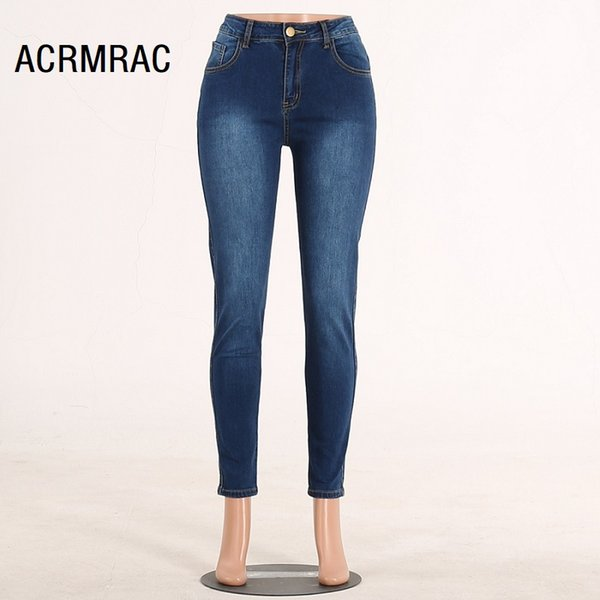 Women jeans Slim Mid waist summer Pencil pants Sexy Skinny jeans Woman 105