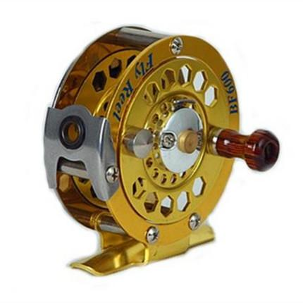 1pc fishing reel glod color fly reel 3/4# 5/6# 7/8# 146g fly fishing wheel diameter 60mm/80mm/100mm thumbnail