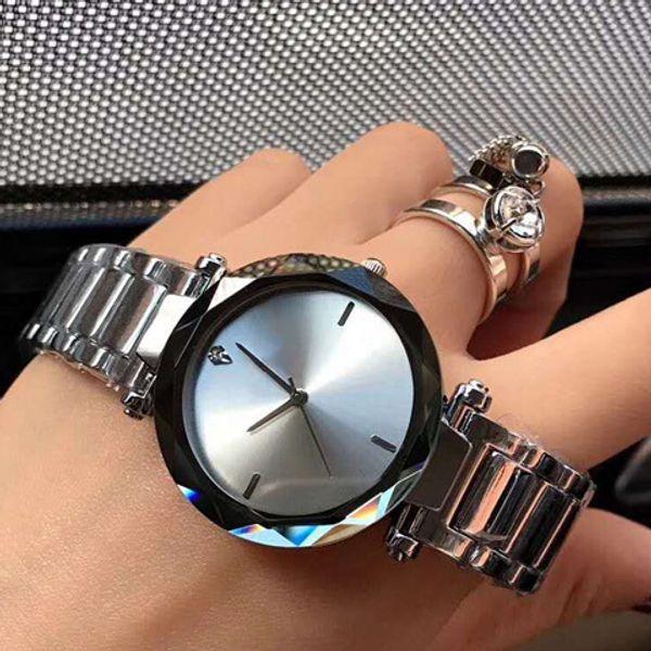 2019 новая мода из нержавеющей стали водонепроницаемый топ подарок часы бренда платье женщин кварцевые часы из нержавеющей стали бур 34мм часы оптовой