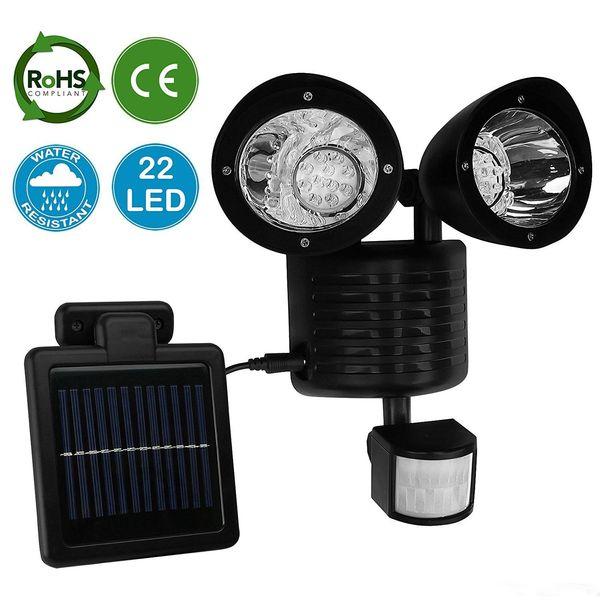 Newest 22 LED Solar Power Street Light PIR Motion Sensor Light Garden Security Lamp Outdoor Street Waterproof Wall Lights