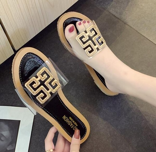 Top Sandali delle donne Dust Bag Designer Shoes Luxury Slide Summer Fashion Wide Flat Sandals Slipper spedizione gratuita