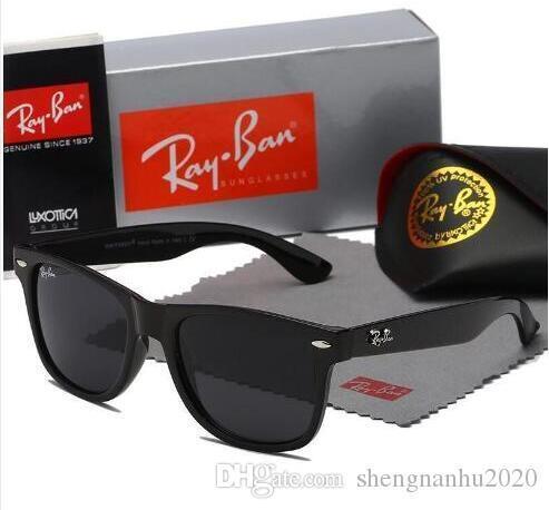 Высокое качество AviatorRayBan Солнцезащитные очки Vintage Pilot Brand Группа UV400 защиты женщин людей Бен Wayfarer очки с футляром и Box R214
