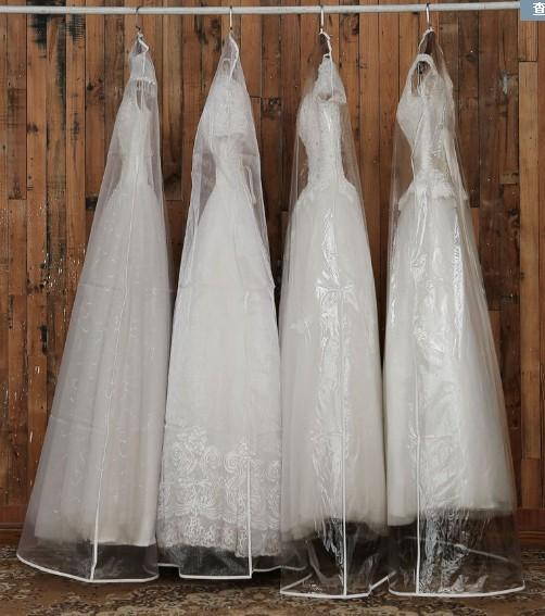 Transparent Wedding Dress Dust Cover Omniseal Extra Large PVC 180*58*10cm  Wedding Garment Bag Long Garment Cover Travel Storage Wholesale Dress For