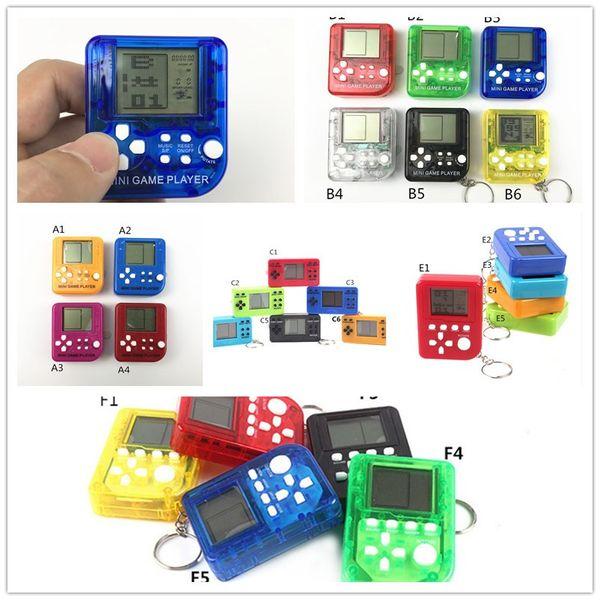 Mini Handheld jogador Sliding Tetris Game Console clássico Keychain Retro Jogadores LCD Kids Brinquedos Educacional brinquedos eletrônicos A10902