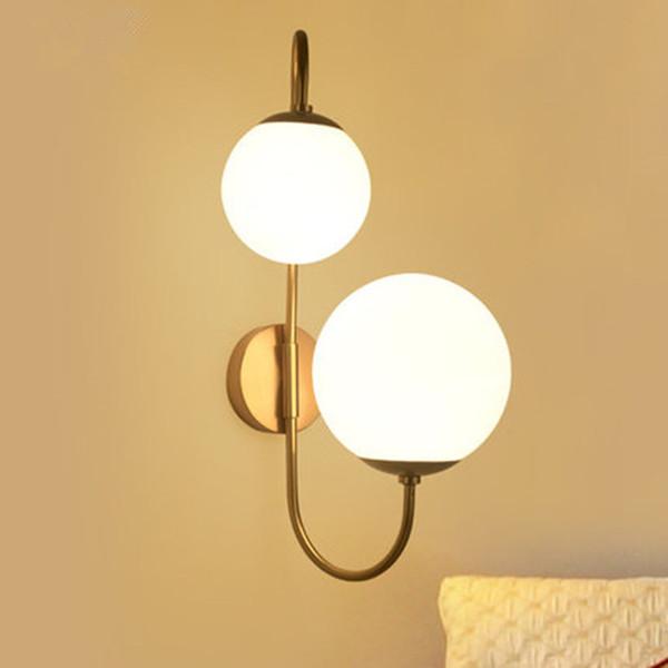 Lampe de mur moderne boule de verre Led Applique murale Loft Industriel Lumière Salon Chambre Escalier Home Luminaires Décor Luminaire