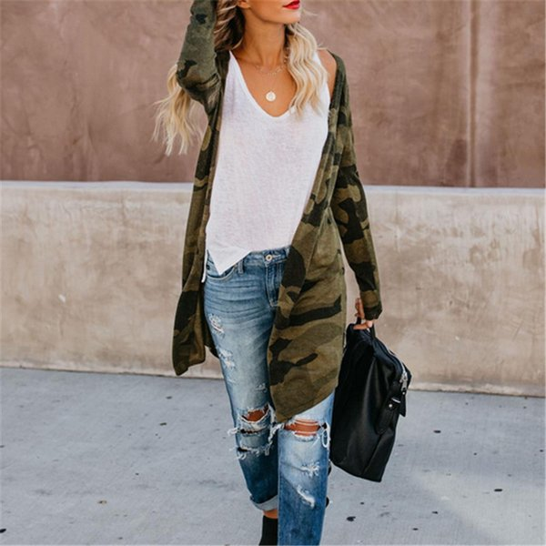 Women Loose Long Sleeve Cardigan Leopard Print Camouflage Kimono Shawl Tops Blouse Female Casual Slim Jacket And Coat Cardigan