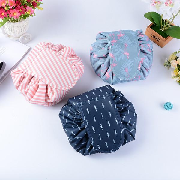 Laamei Make Up Wash Bags Organizer Women Bags Makeup Bag Lazy Cosmetics Dual Magic Portable Travel Drawstring Bulk Artist