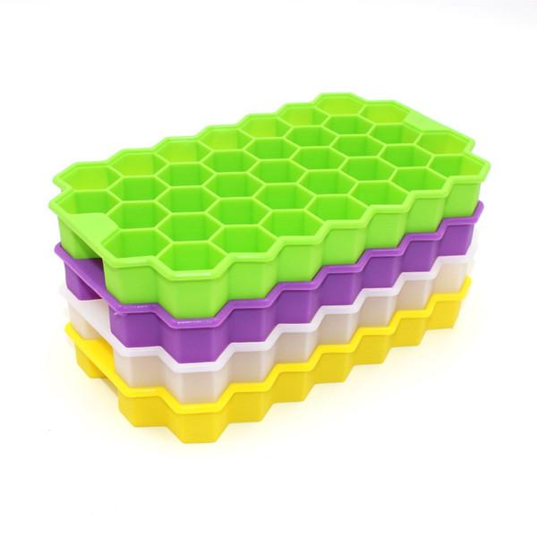 Silikon-Eiswürfelbehälter Einfache und flexible Eiswürfelbehälter mit auslaufsicherem, abnehmbarem Deckel LFGB-zertifiziert und BPA-frei