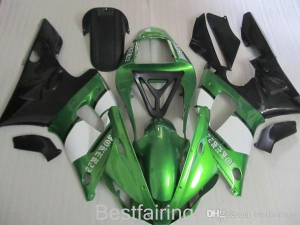 ZXMOTOR Free custom fairing kit for YAMAHA R1 2000 2001 green white black fairings YZF R1 00 01 KK78