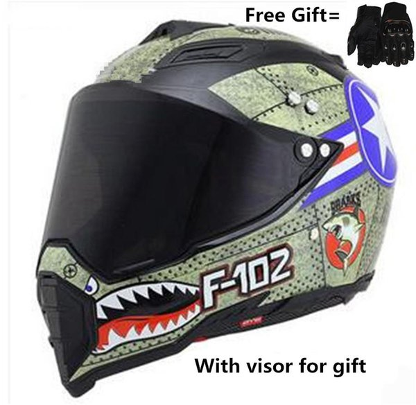Casco integrale integrale Casco da moto Casco integrale Off-Road per Motocross ATV MX capacetes de motociclista