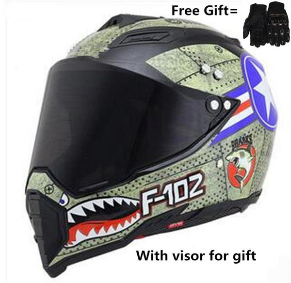 Helme Advanced Dirt Bike Helm Off-Road Integralhelm für Motocross ATV MX
