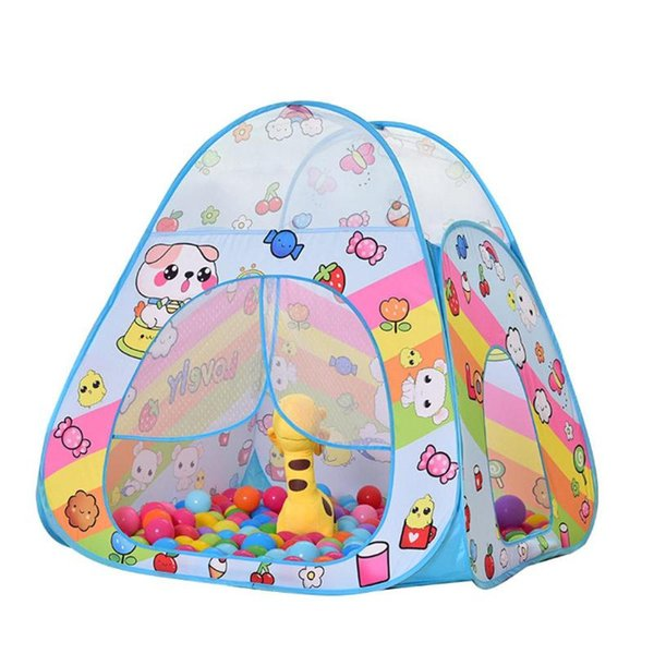 Foldable Tent Baby Play Teepee Children's Toys Tent Cartoon Tent House Game Crawling Tunnel Ocean Ball Pool Toys For Kids
