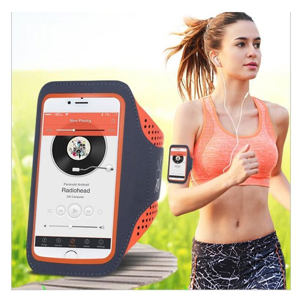 5.5'' Waterproof Sports Jogging Gym Armband Running Bag Touch Screen Cell Phone Arm Wrist Band Hand Mobile Phone Case Holder #109832