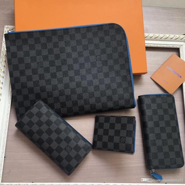 2019 nouveau portefeuille des hommes de Geland noir, élégant et discret conception, léger et durable, plusieurs poches pratiques et la conception compartiment