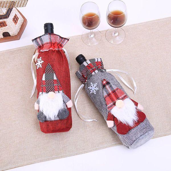 Крышка от бутылки с лесным эльфом Рождественский ресторан Крышка от бутылки с вином Отель Бутылка для вина Рождественские украшения 50 штук DHL