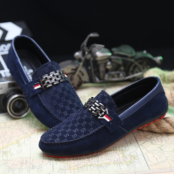 Red Bottoms Loafers Black Men Shoes Slip On Men's Leisure Flat Shoes Fashion Male Breathable Moccasin Loafers Driving Shoes l1