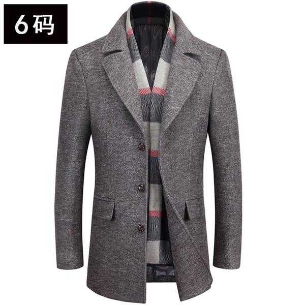 Более модно высокое качество мужской мужской шарф воротник шерсти шерстяная ткань пальто лацканы пальто в долгосрочной перспективе