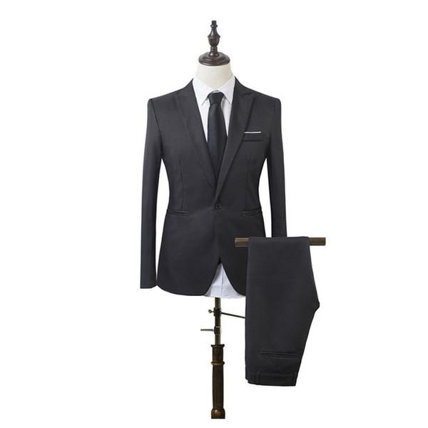 Los hombres de lujo se casan con el traje de algodón Blazers masculinos Los hombres se adaptan a los trajes ajustados para los negocios de disfraces después de abrir el collar de réplica