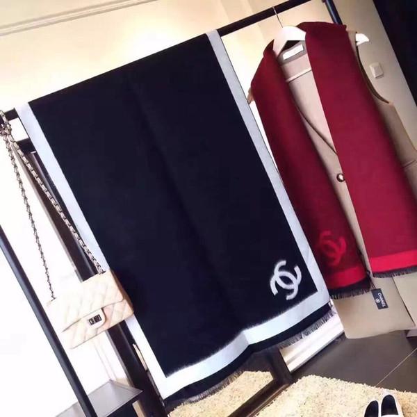 Moda Top Inverno 100% Cashmere luxurys lenço para mulheres e homens 2019 Designers Grande cheque gigante Blanket Lenços Infinito Marca Scarf