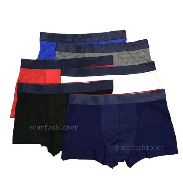 100% Famous Mens Underwear Boxer Briefs Shorts For Man Cool Ice Silk Vintage Design Cuecas Adult Boxer Man Penis Underpants Trunks