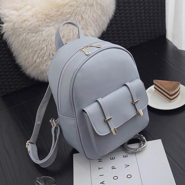 3pcs/Set PU Leather Women Backpack Girls Solid Shoulder Mini Backpack Lady Composite Bag Mochila Feminina