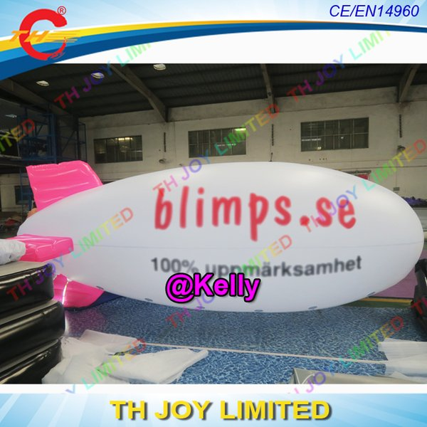 free logo printing inflatable blimp balloon for outdoor advertising