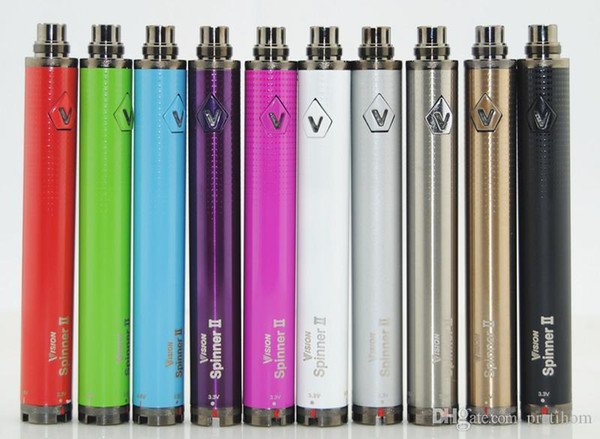 VISION SPINNER 2 battery ego twist Variable Voltage vision spinner II 1650mAh electronic cigarettes for CE4 CE5 atomizer protank H2 vape pen