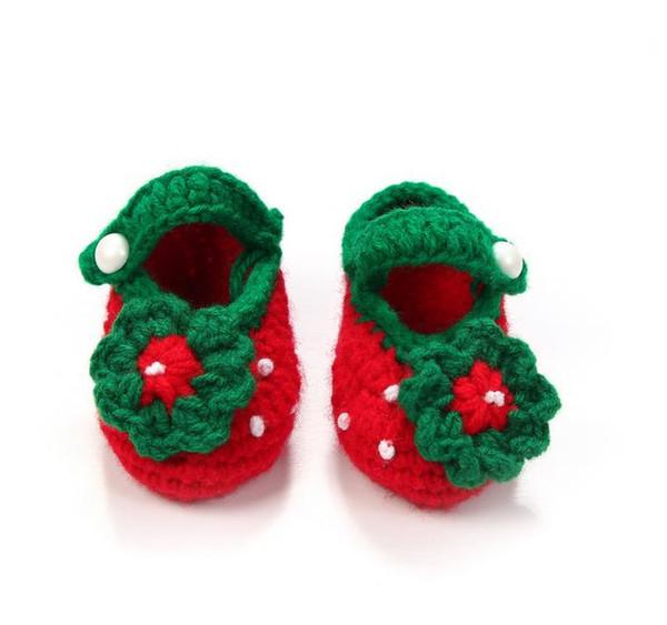 10 çift / grup Tatlı yumuşak bebek kız çiçekler inci elişi çilek toddler ayakkabı çocuk beşik ayakkabı 11 cm toptan