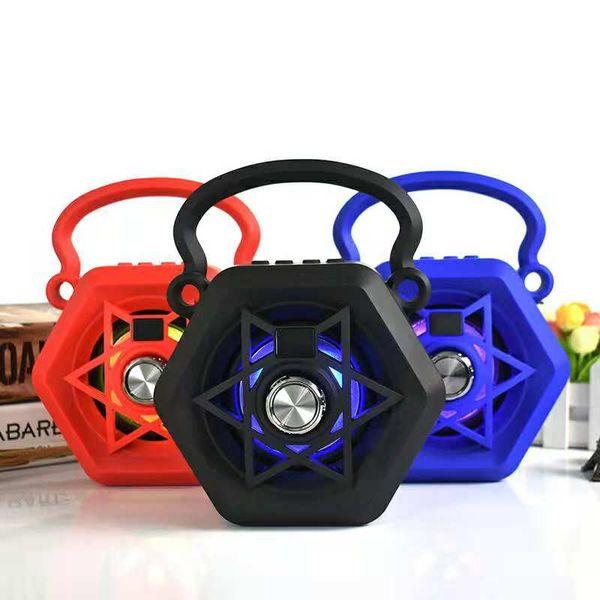 Wrdlosy 135 Colorful Handle Bluetooth Speaker Stage LED Portable Speaker 10W Outpower Super Bass Stereo 3D HiFi Gift Computer Mini Speaker