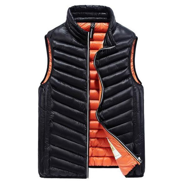 Chaleco acolchado de algodón para hombre de marca Espesar chaleco cálido Otoño Chaleco sin mangas casual para hombre ultra ligero
