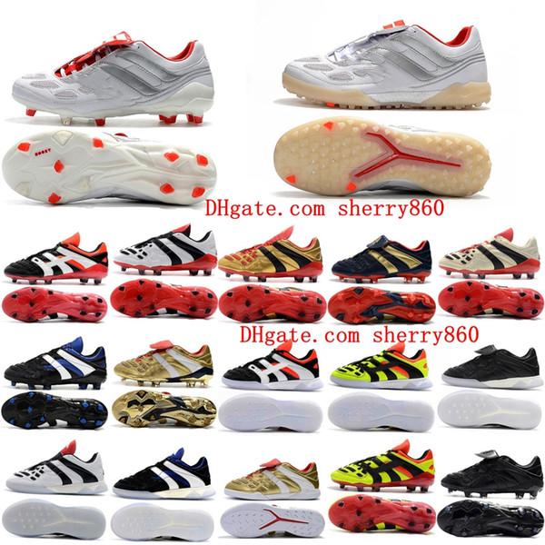 best selling 2019 mens soccer cleats Predator Accelerator Electricity FG TR soccer shoes Predator Precision FG X Beckham turf indoor football boots new