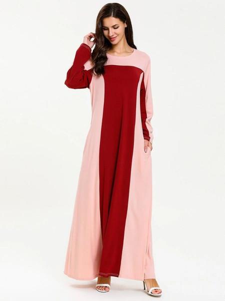 2019 femmes grande taille robe musulmane Patchwork caftan