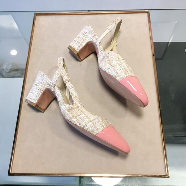 Дизайнерские Женские Разноцветные Сандалии на Высоком Каблуке Высокого Качества на высоком каблуке Туфли на высоком каблуке 6 Цветов Женское Платье из Лакированной Кожи Одной Обуви mf19031301