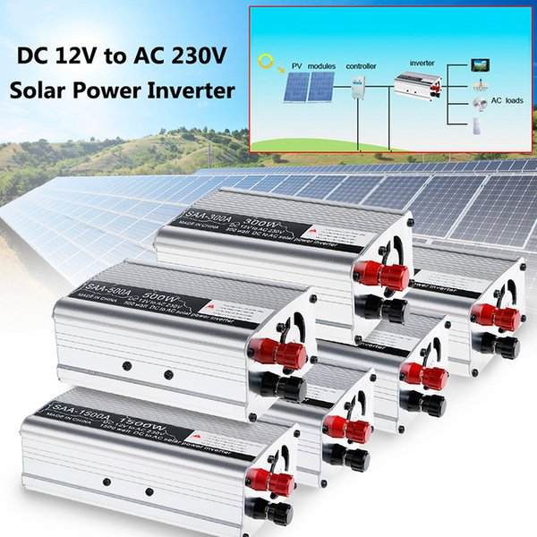 DC12V to AC 230V Solar Continuous Inverter Converter USB Output Stable Car Inverter Power Switch On-board Charger YHQ