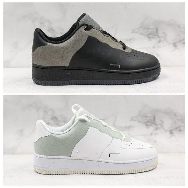 1 Yeni Düşük Soğuk Duvar 1s Klasik Siyah Beyaz Erkek Kadın Günlük Ayakkabılar Kaykay Düşük Kesim Buğday Eğitmenler Spor ayakkabılar Boyutu 36-45