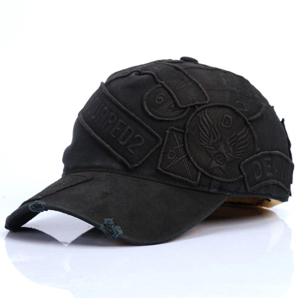 2019 atacado 2 cores 100% Algodão Bonés de Beisebol Cartas Das Mulheres Dos Homens Design Clássico ICON Logotipo Chapéu Snapback Casquette Dad Hats