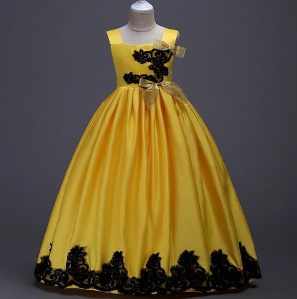 Neue Shinning Mädchen Festzug Kleider Sheer Neck Perlen Kristall Satin Mint Green Flower Girl Kleider Formale Party Kleid Für Jugendliche Kinder lw21