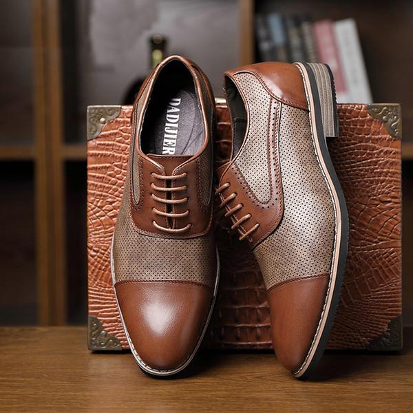 zapatos oxford para los hombres zapatos de cuero zapatos de los hombres de negocios de moda zapatos de hombre de vestir formales scarpe uomo Schoenen eleganti