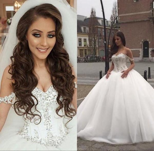Said Mhamad Ball Gown Wedding Dresses 2019 Sweetheart Sleeveless