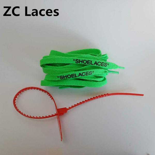 Verde con lazos rojos de cremallera 160cm