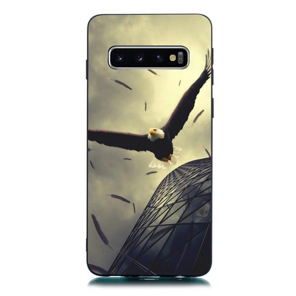 3D Matte TPU Soft Case For Samsung Galaxy S10 S10E S9 S8 Plus A30 A20 A40 A50 A70 A10 J4 J6 Plus Cat Moon Butterfly Phone Skin Cover 100pcs