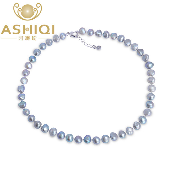 Necklace of Freshwater Pearl two-tone for all occasions 120 cm