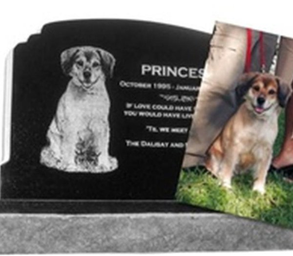 2019 Personalized Custom Photographic Painting Pet Memorials Black Granite 16 X 16 Pet Cat Grave Marker Headstone From Animastone 498 5