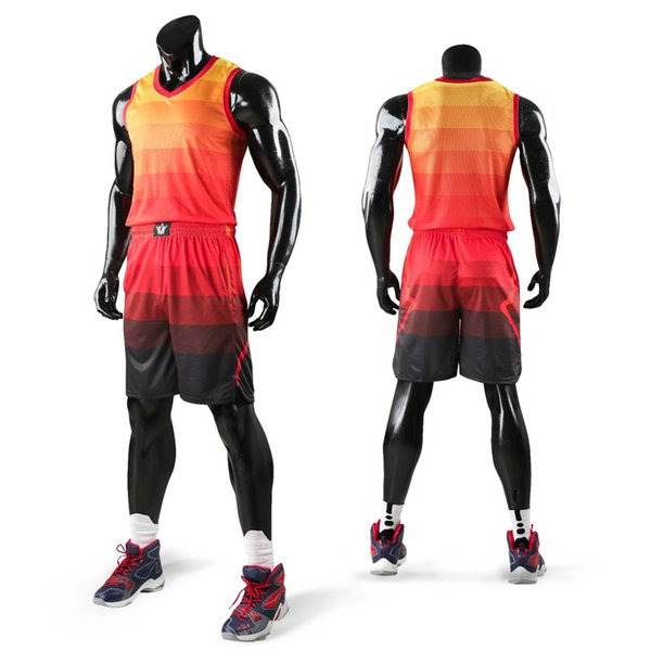 New Kids Men Throwback Basketball Training Jersey Set Blank College Tracksuits Breathable Basketball Jerseys Uniforms Customized SH190629