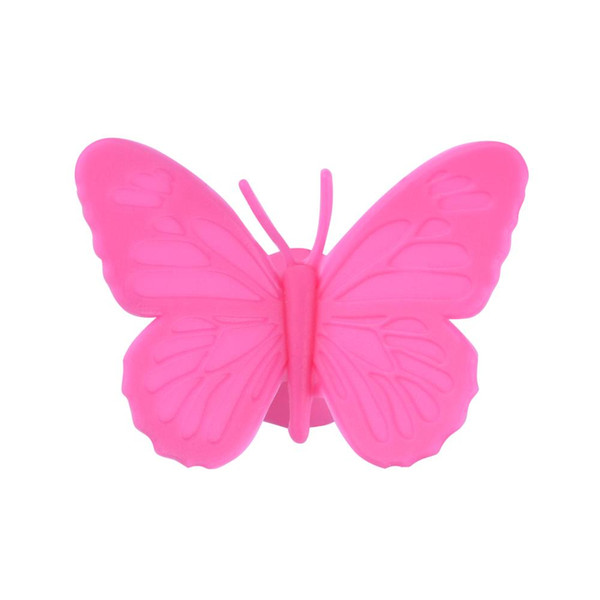 10pcs/kits Wine charms Silicone Butterfly Place Escort Wine Glass Cup identification label Paper Card for Wedding Party Home Decorations