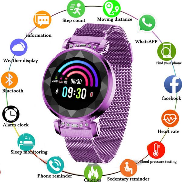 SL08 Lady Smart Bracelet Pression Artérielle Moniteur De Fréquence Cardiaque Smart Band Fitness Tracker montres Mode Femmes Smartwatch