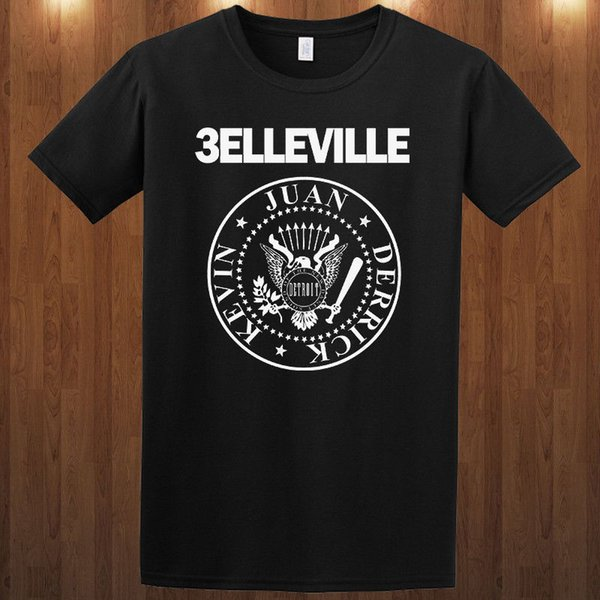 T-Shirt Belleville Three tee Juan, Derrick, Kevin S M L XL 2XL 3XL RamonesFunny Tshirt Unisex Casual spedizione gratuita