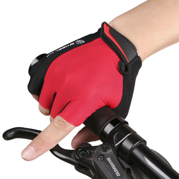 Mountain Bike Cycling Half Finger Gel Pads Gloves Bicycle Riding Race Fingerless