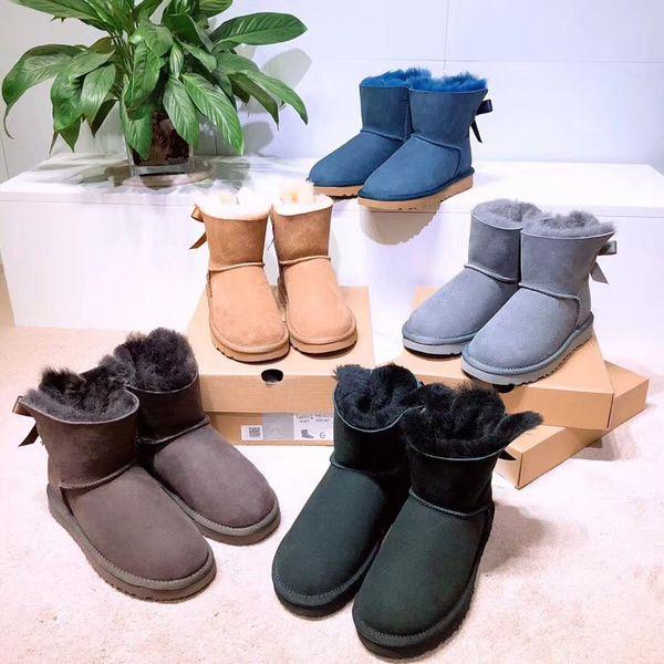 Envío gratis 2019 Diseñador Mujeres Botas de Invierno Botas de Nieve Moda Australia botas de arco Corto arco chica TAMAÑO 35-44