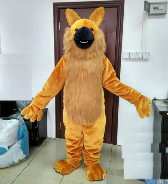 2019 Factory Outlets free shipping brand new adult wolf mascot costume suit